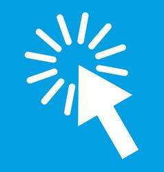 Click icon white vector