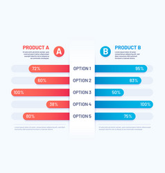 Comparison table infographic two products vector