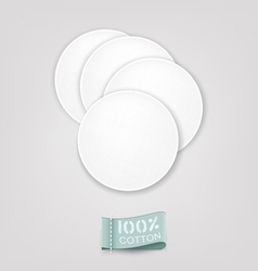 Cotton pads vector