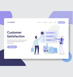 Customer satisfaction concept vector