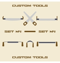 Different carpentry tool silhouette icon set vector