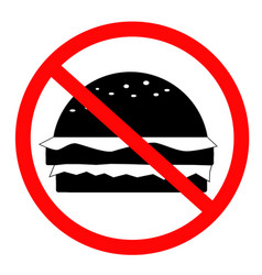 do not food icon on white background flat style vector image