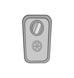 Door of safe icon black monochrome style vector image vector image