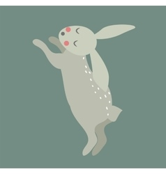 Easter bunny cute style vector image