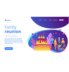 Family tradition concept landing page vector