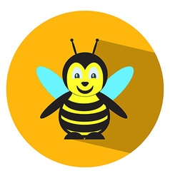 Flat bee vector image
