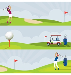 golf course banner vector image