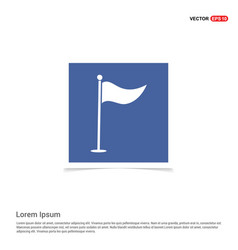 Golf flag icon - blue photo frame vector