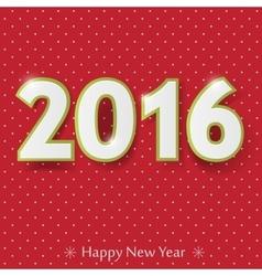 happy new year 2016 design vector image vector image