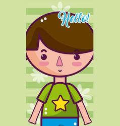 hello bacute card vector image