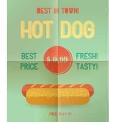 Hot Dog menu price vector image