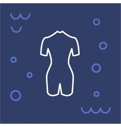 Icon diving suit vector image
