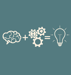 idea concept brain gears idea vector image