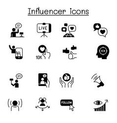 influence people brand ambassador icon set vector image