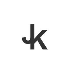 initial jk logo designs inspirations vector image