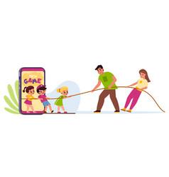 Kids mobile use limit parental control vector