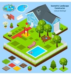 Landscape design isometric vector