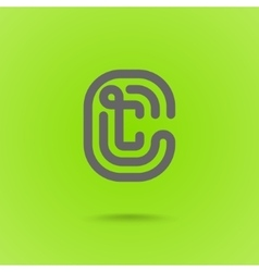 Letter C Graphic Logo Element vector image