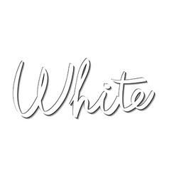 Lettering hand-written name white vector