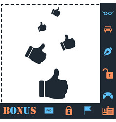 Like thumbs up icon flat vector
