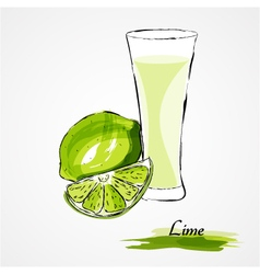 Lime juice vector