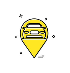 map car location icon design vector image