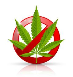 Marijuana prohibition sign vector