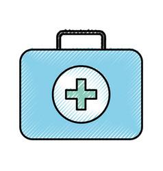medical bag cartoon vector image