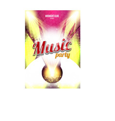 Music Party Poster Background Template - vector image