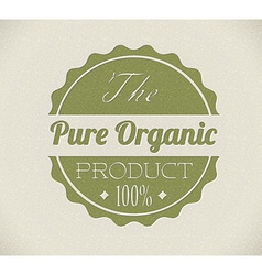Old round retro vintage grunge stampl for organic vector