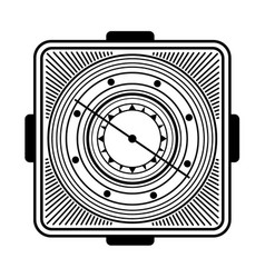 old vintage compass vector image