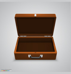 Outdoor leather briefcase vector