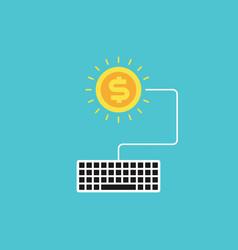 pay per click flat design concept vector image