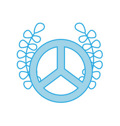 Peace symbol with wreath vector