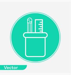 pencil holder icon sign symbol vector image