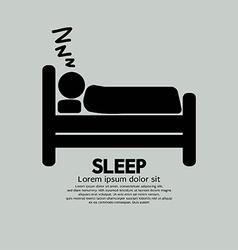 Person Sleeping In Bed Symbol vector image