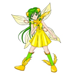 Pixie Yellow vector