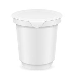 Plastic container of yogurt or ice cream 01 vector