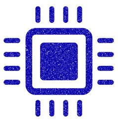 processor icon grunge watermark vector image