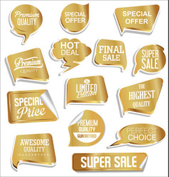 promo sale stickers and tags collection modern vector image