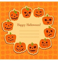 Pumpkin to Halloween vector