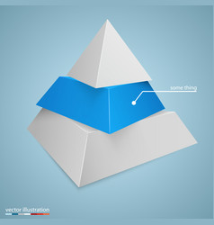 Pyramid icon for business concept background vector