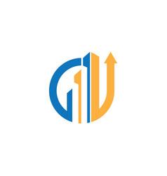 real estate logo arrow vector image