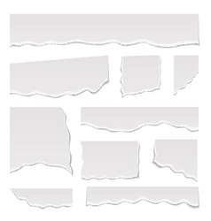 realistic detailed 3d white ripped notebook paper vector image