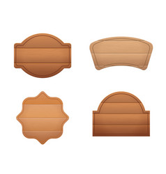 realistic detailed 3d wooden brown boards set vector image