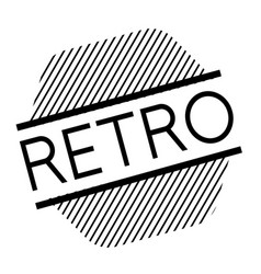Retro black stamp vector
