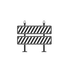 road barrier icon isolated symbol restricted vector image