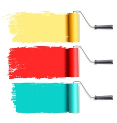 roller brushes vector image