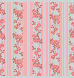 roses and stripes vector image