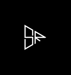 S r letter logo abstract design on black color vector
